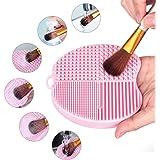 MelodySusie Apfelform Make-up Pinsel Reiniger / Make-up Pinsel Reinigungsmatte / 4 Finger Make-up Pinsel Reiniger