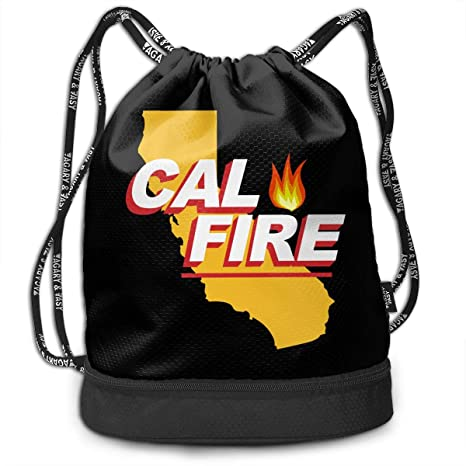 7870c2b824d6 Amazon.com: IILJG California Strong Cal Fire Drawstring Backpack ...