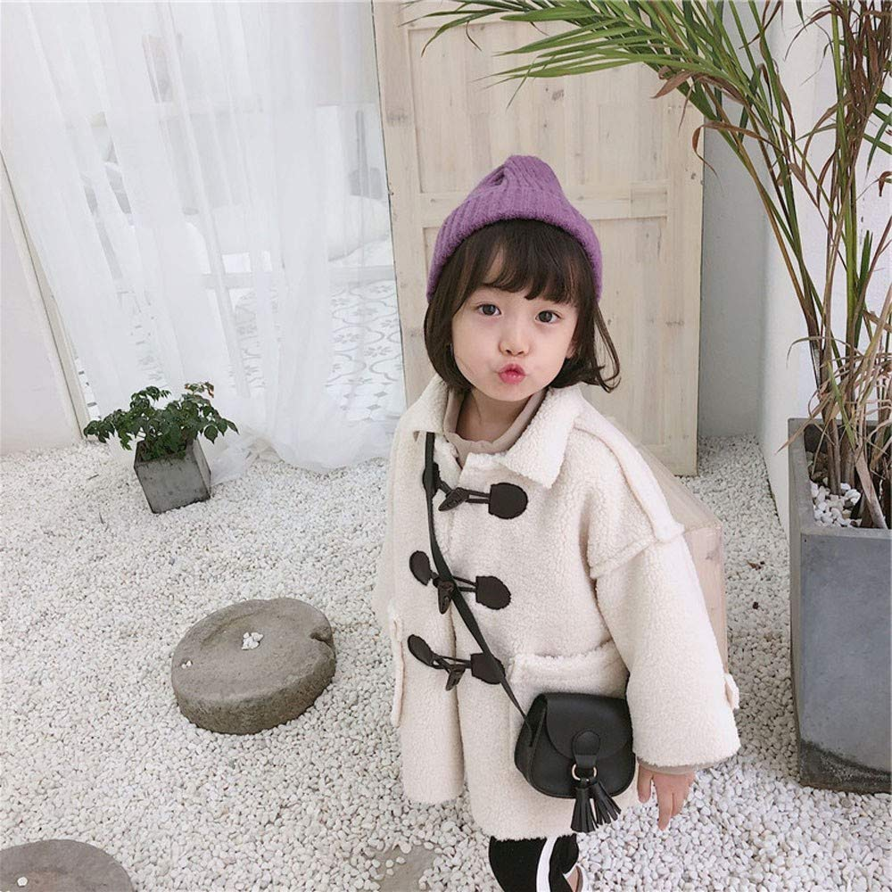 Lifestyler Fashion Kids Girls Thick Warm Windproof Coat Clothes Long Sleeve Button Pockets Casual Jacket