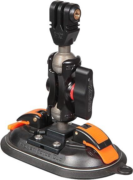iSHOXS Power Force Cup Saugnapf Halter für GoPro und kompatible Action-Cams