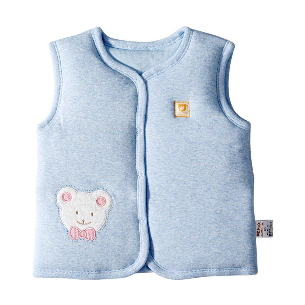 Monvecle Gilet unisex per neonati e bambini molto piccoli, imbottito e in caldo cotone