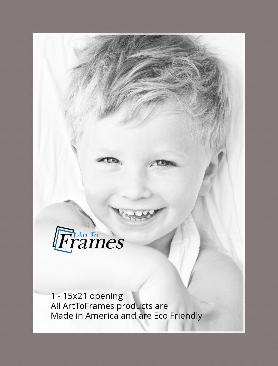 15x21 Cobblestone / Pewter Custom Mat for Picture Frame with 11x17 opening size (Mat Only, Frame NOT Included) by ArtToFrames (Image #2)
