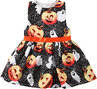 Toddler Kids Baby Girls Halloween Spider Web Costume Party Dress Clothes Gifts