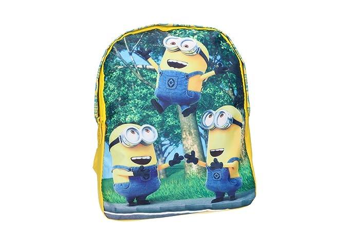 Mochila niño MINIONS bolsa de ocio escolar amarillo VZ183: Amazon.es: Ropa y accesorios