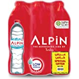 Alpin Shrink Low Sodium Mineral Water Special Offer - 1.5L, Pack of 6