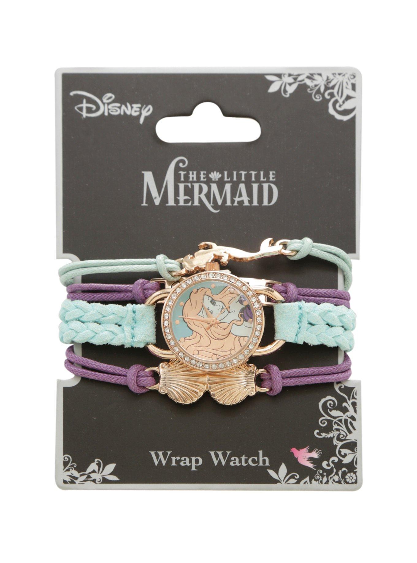 Disney The Little Mermaid Watch Cord Bracelet Set