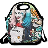 DSYBTV Lunch Bag Suicide Squad Quinn Lunch Tote Lunch Box For Women Men Kids With Adjustable Strap