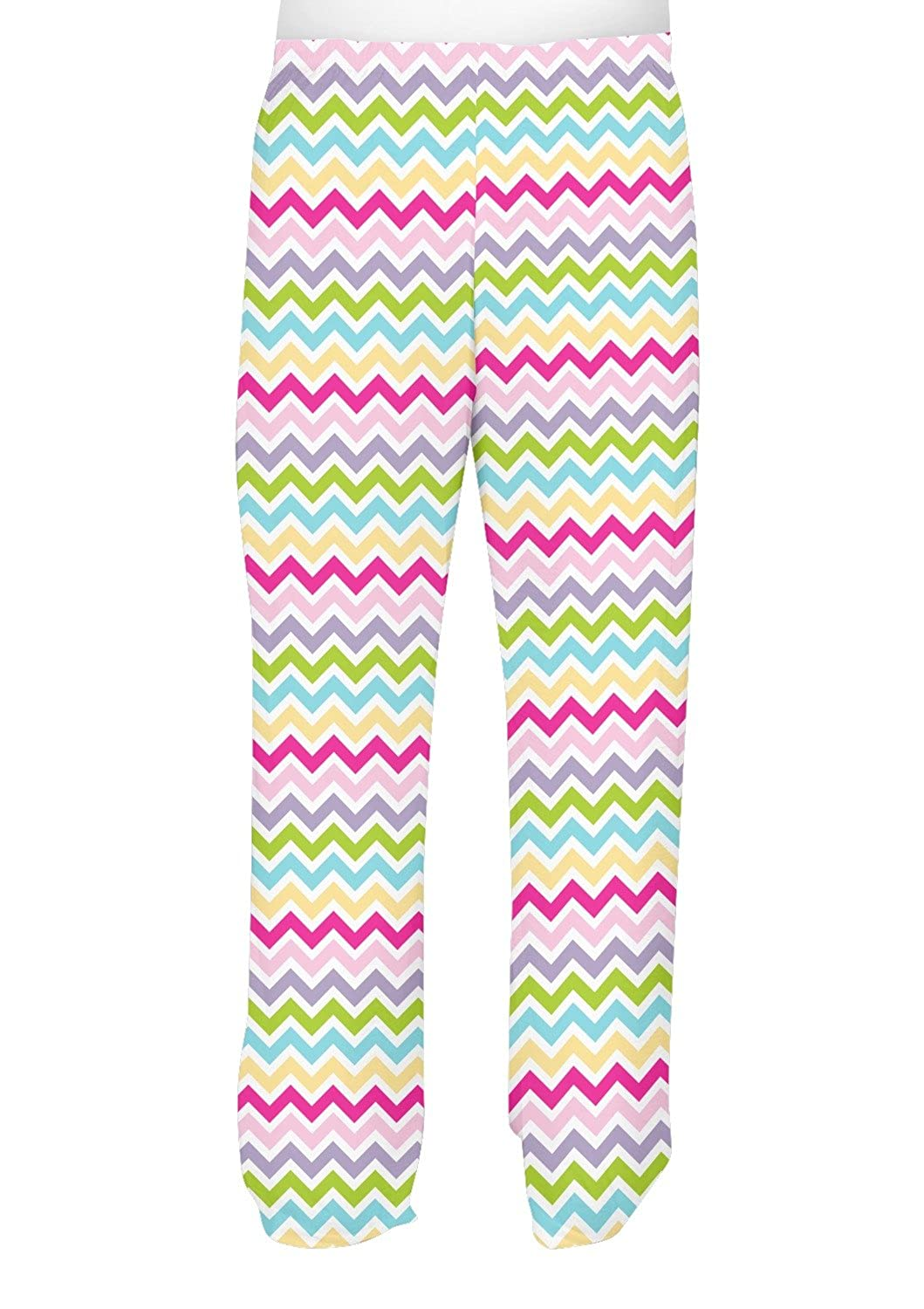 Personalized Colorful Chevron Mens Pajama Pants Pink XS