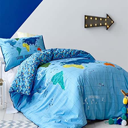 Zmpride cute cartoon seven continents bedding set world map bed zmpride cute cartoon seven continents bedding set world map bed covers single gumiabroncs Image collections