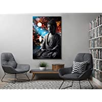 999Store Unframed Printed Buddha Statue Canvas Painting (180x120cms)