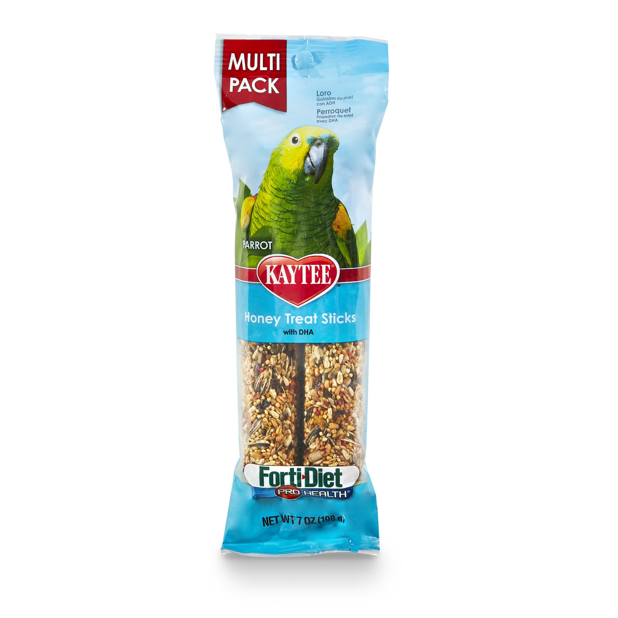 Kaytee Forti-Diet Pro Health Parrot Honey Treat Stick Value Pack, 7-Oz