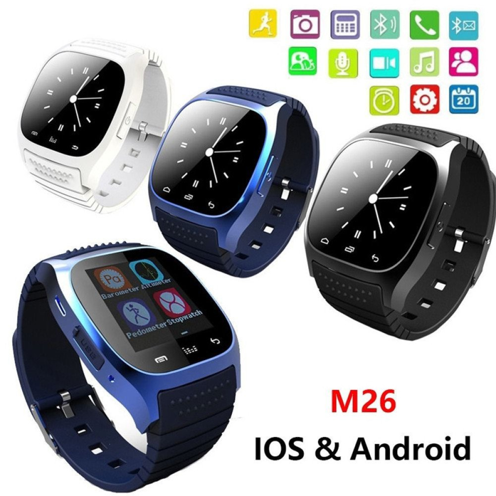 BLUEUK Smartwatch M26 Bluetooth con reloj inteligente LED ...