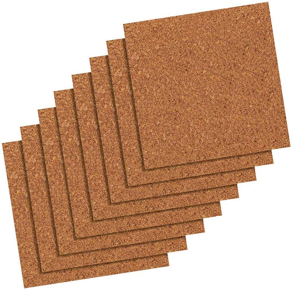 "Quartet Cork Tiles, Cork Board, 12"" x 12"", Corkboard, Wall Bulletin Boards, Natural, 80 Pack (108)"
