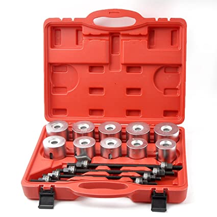 18f6dc22807c3 Amazon.com: Master Bearing Press and Pull Sleeve Kit 34mm - 90mm Bear Gear  Removal Tool Set: Automotive