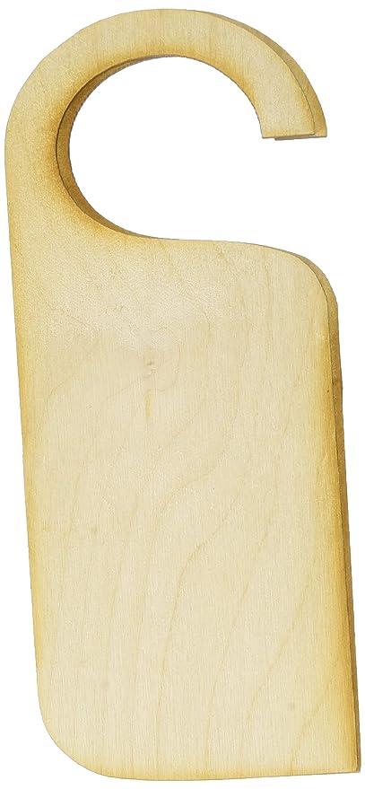 Door C Pack Of 10 Wooden Door Hangers Unpainted Shapes Blank Craft Arts Decoupage