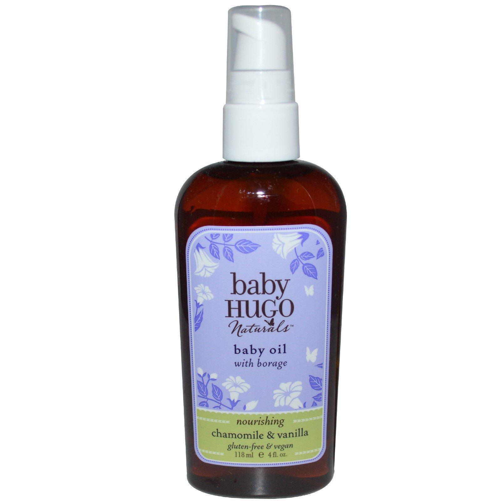 Hugo Naturals, Baby Oil, Chamomile & Vanilla, 4 fl oz (118 ml) - 2pc