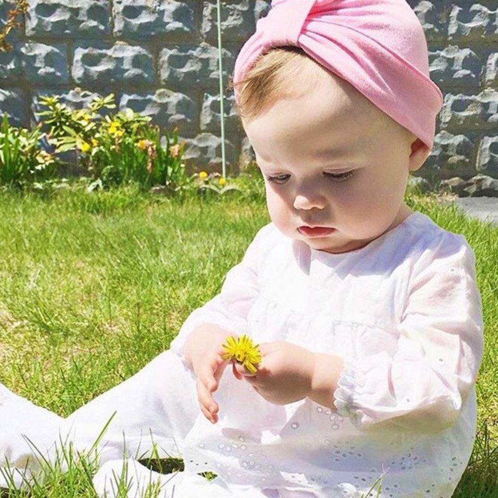 GOOTRADES Newborn Baby Girls Knotted Bohemia Cotton Turban Hat Beanie Cap