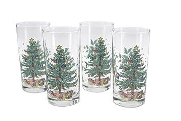 Amazon.com | Nikko Christmas Glassware Highball, Set of 4: Highball ...