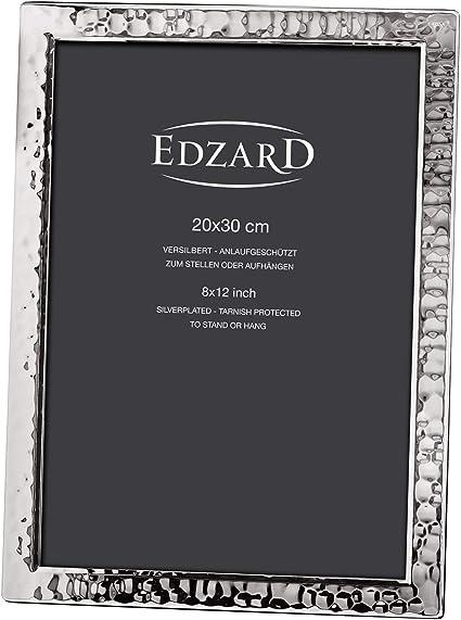 Edzard Portaretratos/Marco de Fotos Pavia para Fotos 20 x 30 cm, Plateado, Protegido contra el deslustre: Amazon.es: Hogar