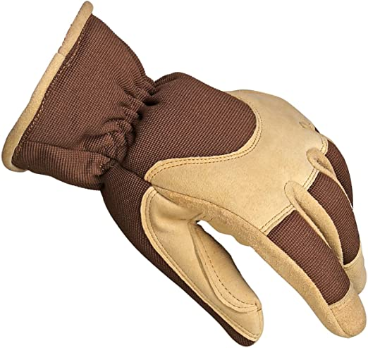 Ladies Womens Winter Gloves Suede Warm Cosy Fleece Lined Driving Gloves Work Glo
