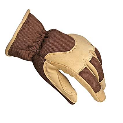 c750ff1615f4d OZERO Winter Gloves with Deerskin Suede Leather Shell and Thermal Fleece  Lining Inserted Thinsulate Insulated Cotton