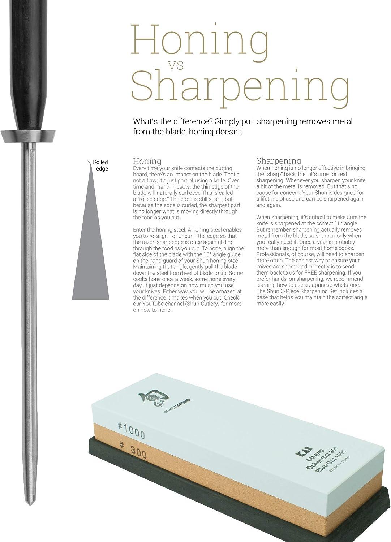 Amazon.com: Shun Classic - Esmeriladora de acero (9.0 in), 9 ...