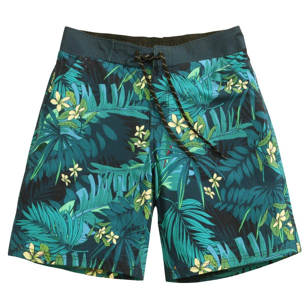 Sulang メンズ スリムフィット 超速乾 水泳パンツ ボードショーツ (メッシュ裏地なし) B06Y2PFD85 M エメラルド エメラルド M