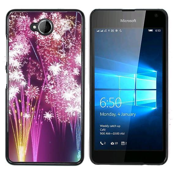 fjcases fireworks celebration slim thin hard case cover for microsoft lumia 650