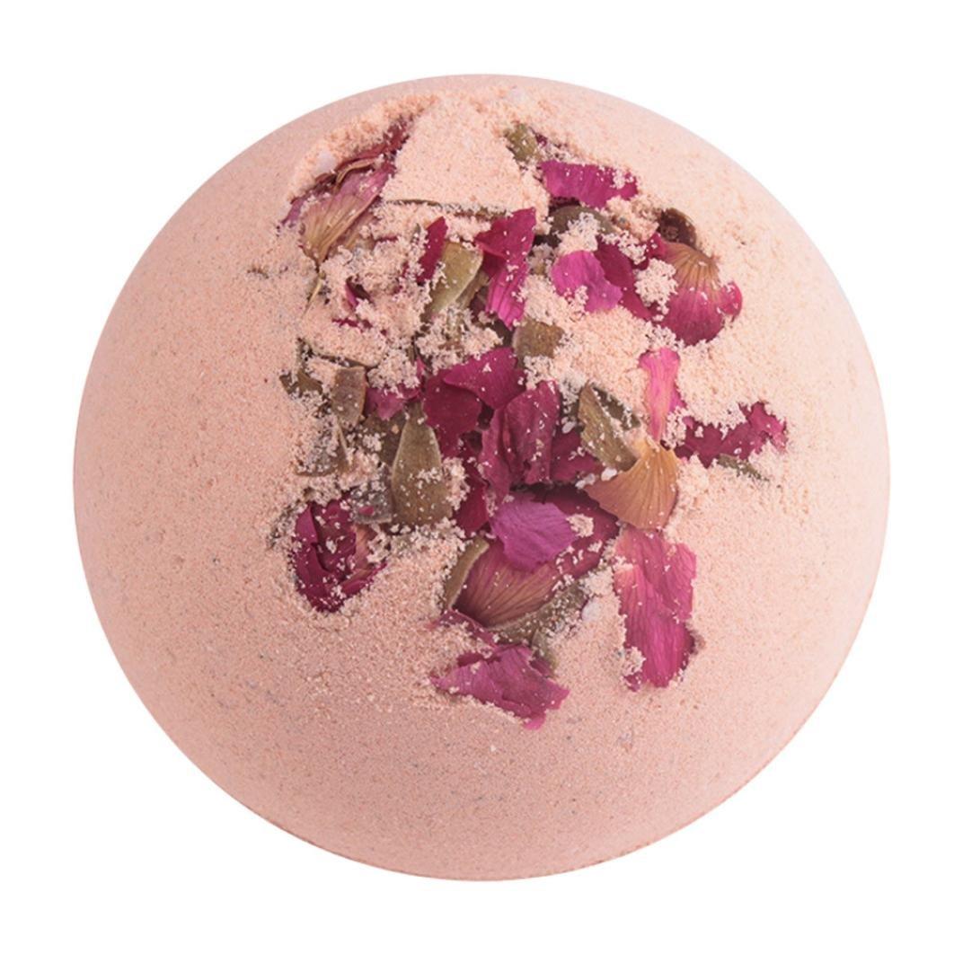 Vovotrade Deep Sea Bath Salt Body Essential Oil Bath Ball Natural Bubble Bath Bombs Ball (D)
