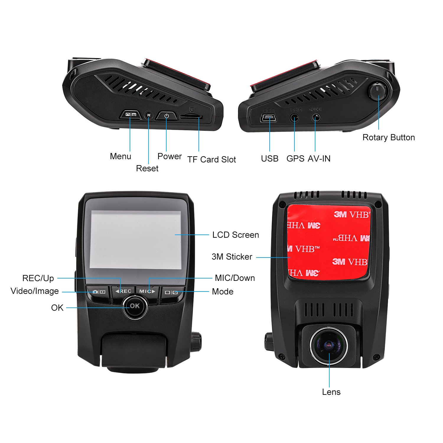 ZXS-X2-Car-Dash-Cam-231-LCD-FHD-1080P-170-Degree-Wide-Angle-Lens-Super-Capacitor-Recorder-with-G-SensorMotion-DetectionLoop-Recording-with-32GB-SD-Card
