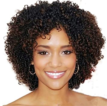 Kinky Curly Afro Wig Synthetic Hair Short Wigs for Women and Men African Pelucas Sinteticas Cosplay