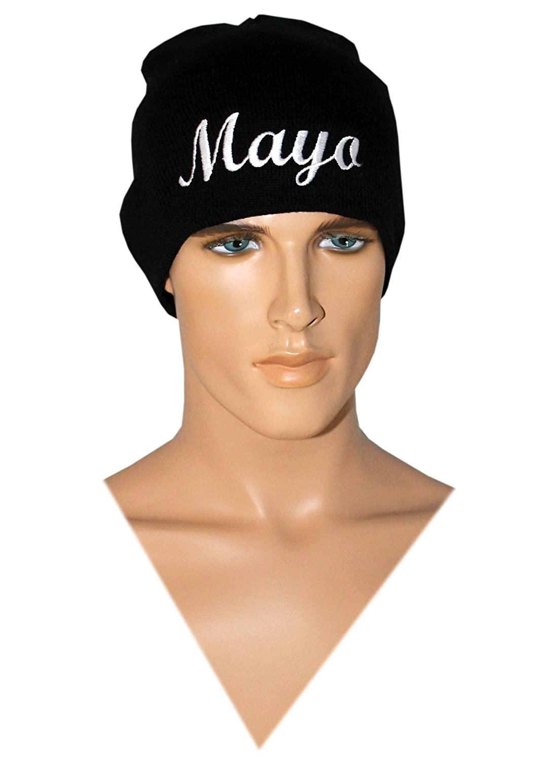 Amazon.com  Men s Black Get Hard Style Mayo Beanie Costume Mayo Beanie Hat   Clothing a68d6c6af03