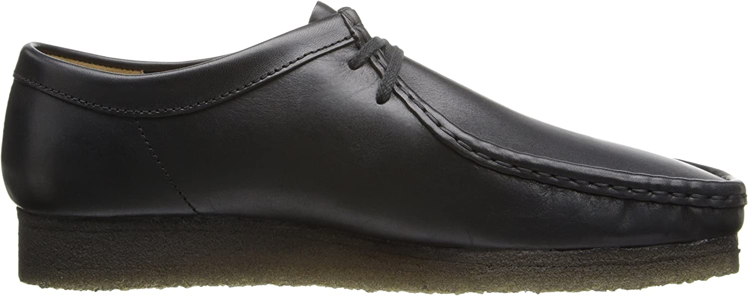 Clarks Men's Wallabee Shoe Black Leather