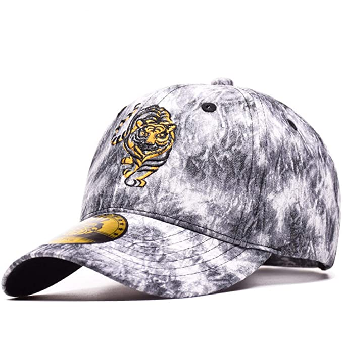 100% Cotton Sports Baseball Cap Tiger Embroidery Gorras Snapback Cap Dad Hats Vintage Simple Style