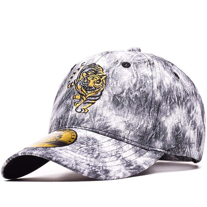 80b185b8 100% Cotton Sports Baseball Cap Tiger Embroidery Gorras Snapback Cap Dad  Hats Vintage Simple Style