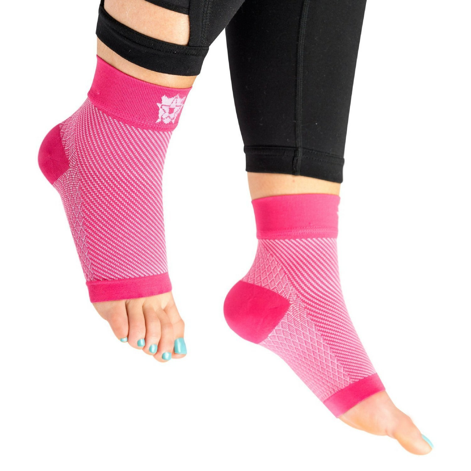 7235d339e0 Amazon.com: Bitly Plantar Fasciitis Socks (1 Pair) Premium Ankle Support foot  Compression Sleeve (Small, Pink): Health & Personal Care