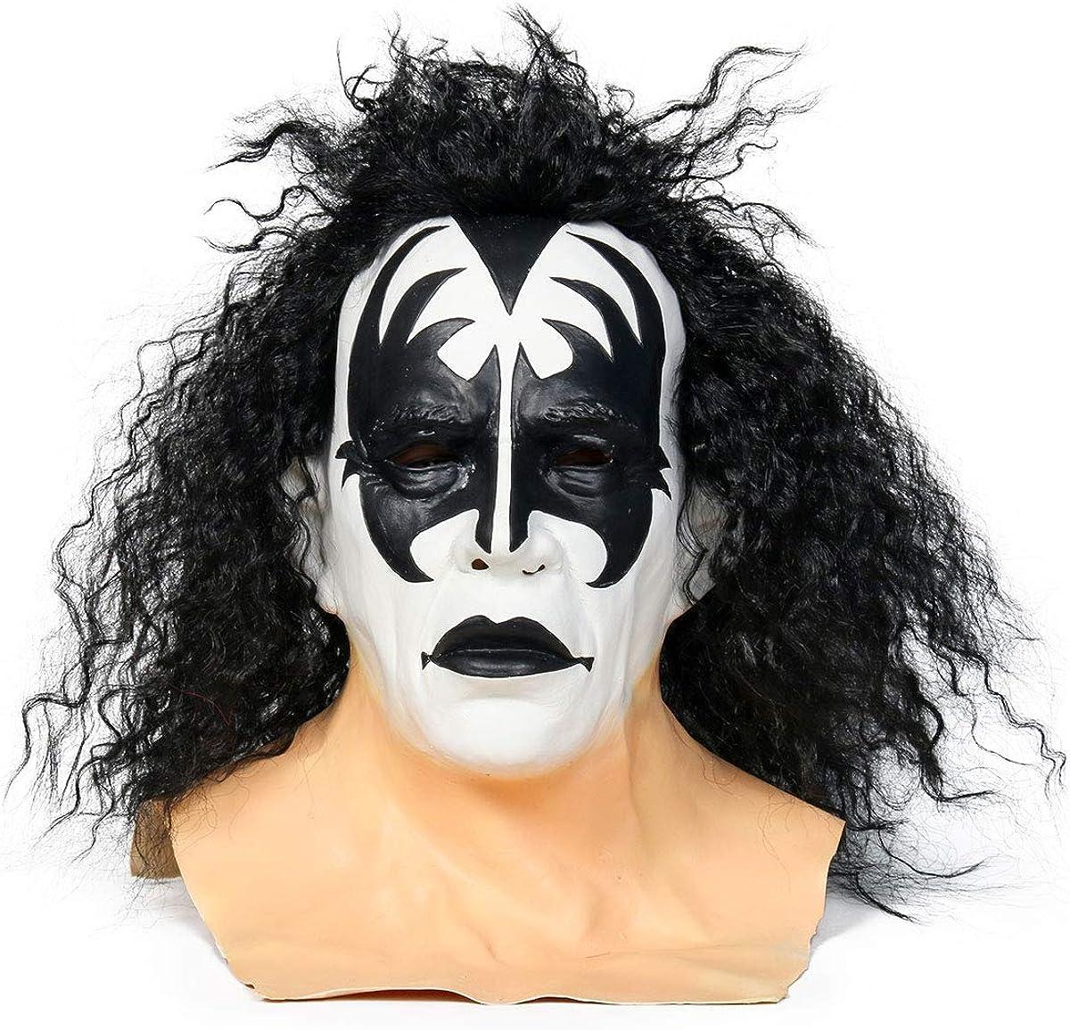 Gene Simmons Volle Maske Rockband Halloween Cosplay Requisiten Aus Latex KISS