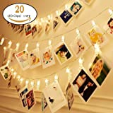 Amazon Price History for:H.YOUNG Wall Deco LED Photo Clips String Lights,Perfect For Wedding Surprise Office celebrate And DIY Hanging Phtoes,20 Clips, 13 feet, Warm White