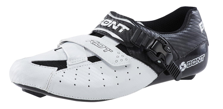 BONT Rennradschuh Riot, weiss - schwarz, Gr. 43, Fahrradschuhe