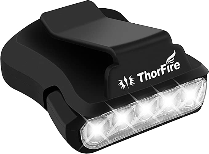 impermeable Faviye camping pesca Linterna frontal LED recargable clip para sombrero para caza