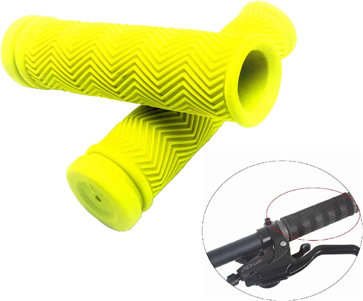 1Pair Suit for Mountain Road Urban Bike//MTB//BMX//Scooter//Tricycle//Wheel Chair Fat-Cat Bicycle Handlebar Grips Antislip Rubber Mushroom Bike Grips