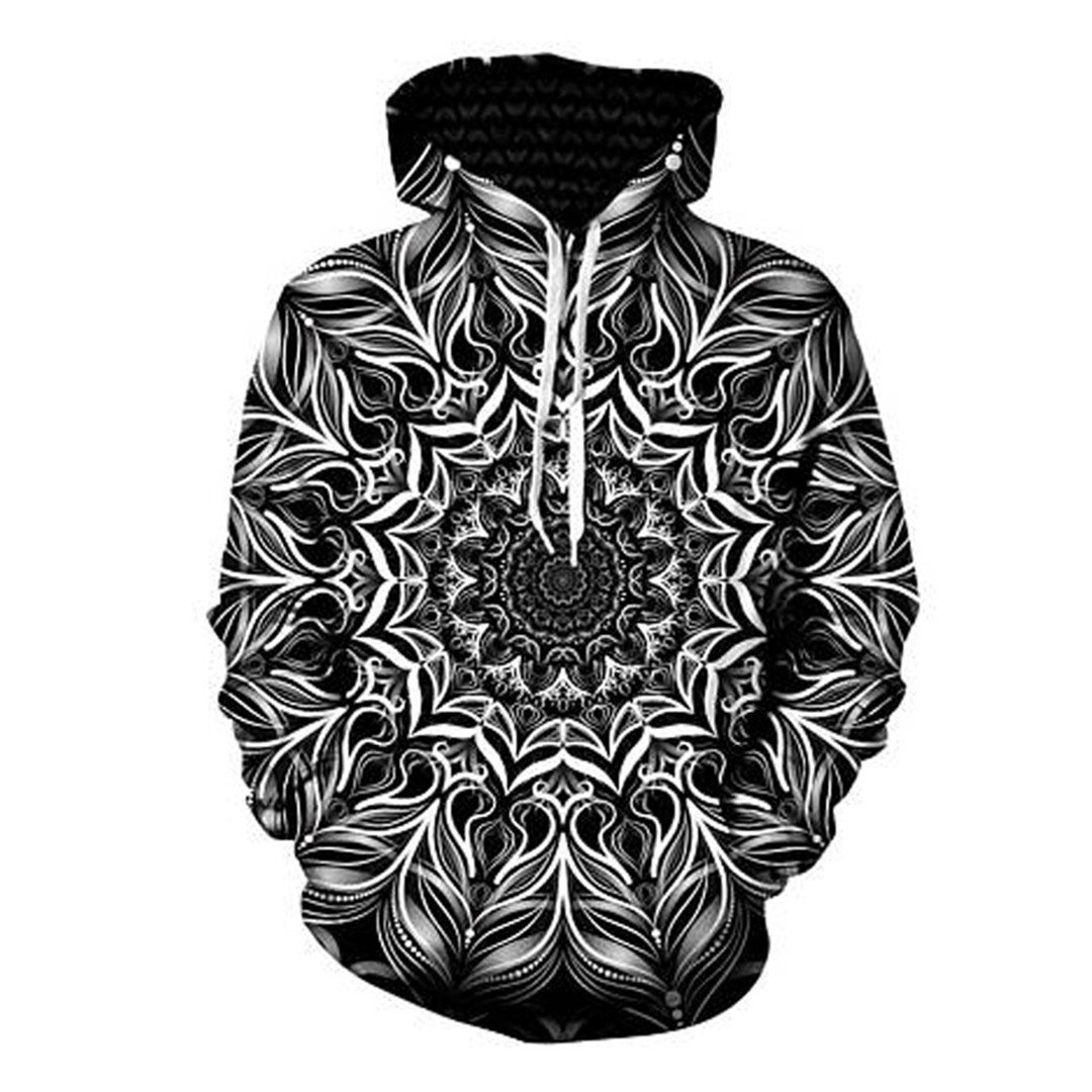 MSYI Mandala Flower Long Sleeve Autumn Winter Pullover All Over Print 3D Hoody at Amazon Mens Clothing store: