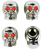Custom Accessories 16220 Chrome Skull Style Valve Cap -, Pack of 4