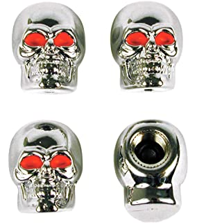 Amazon.com: Custom Accessories 16214 Chrome Skull Style Door Lock ...