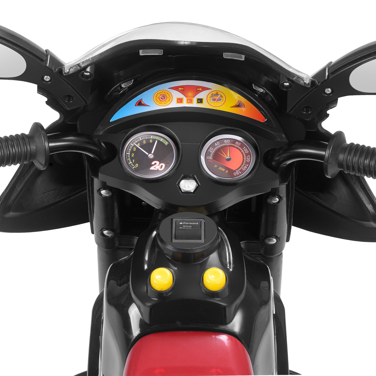 Uenjoy Murtisol Kids Ride on Motorcycle 6V Electric Motorcycle 2 Wheels Black by Uenjoy (Image #6)