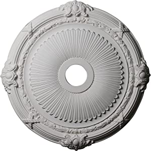 Ekena Millwork CM27HE Heaton Ceiling Medallion, 27 1/2