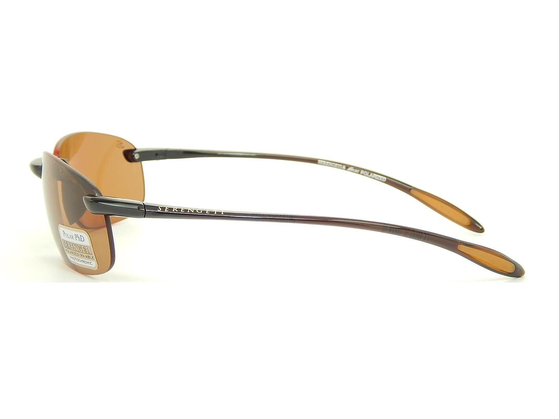 0f13198fb5 New Serengeti Nuvola 7360 Shiny Brown Polar PhD Drivers Lens 63mm  Sunglasses  Amazon.co.uk  Clothing