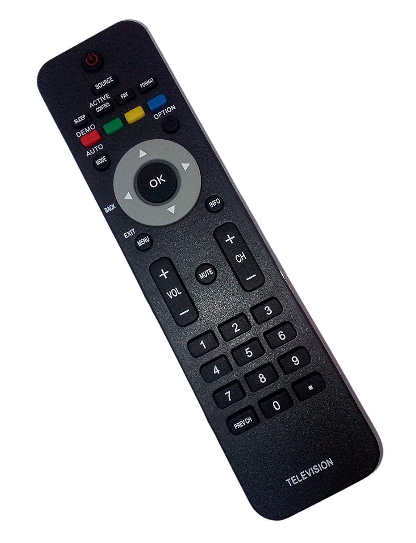 UIUIUS 19MF337B Replaced Remote Control Compatible for Philips 19MF337B/27 32PFL3403D/F7 40PFL3705DF7 42PFL533237 46PFL3706F7 52PFL7422D/37E 47PFL3603D/27 42PFL5332D3 7.3 x 2 x 4 inches black