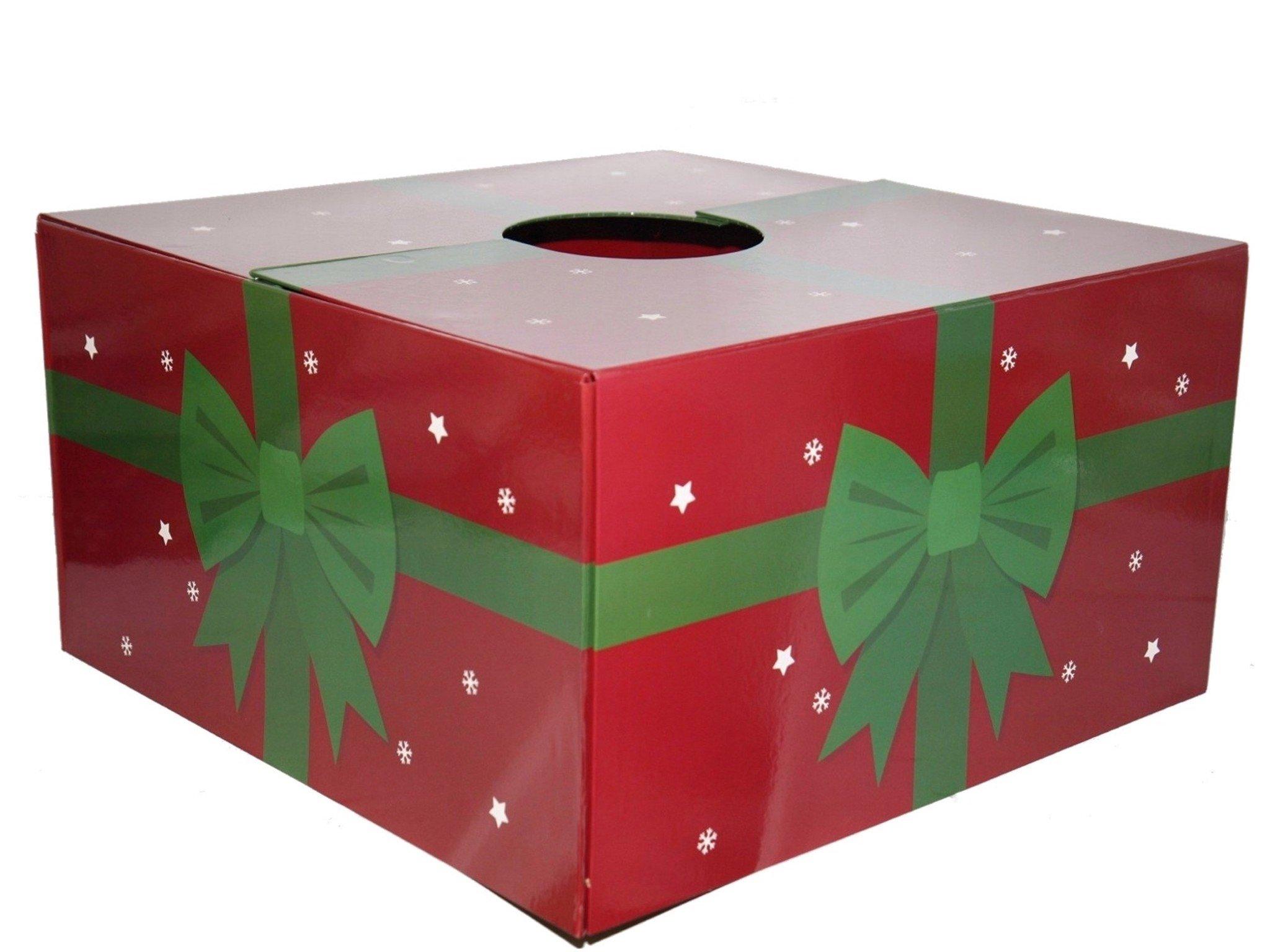 The Original Christmas Tree Box, Red/Green print 20'' x 20'' x 11''large