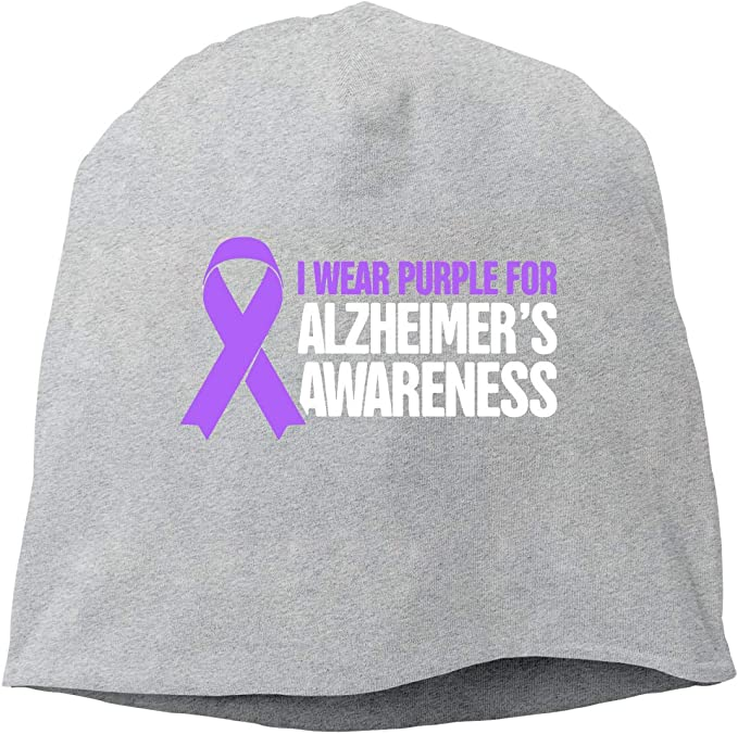WWGSFSDHTTM Alzheimers Awareness Warm Hat Baggy Slouchy Beanie Hat Skull Cap